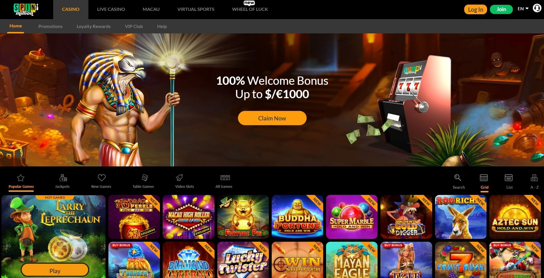 spin million casino bonus review