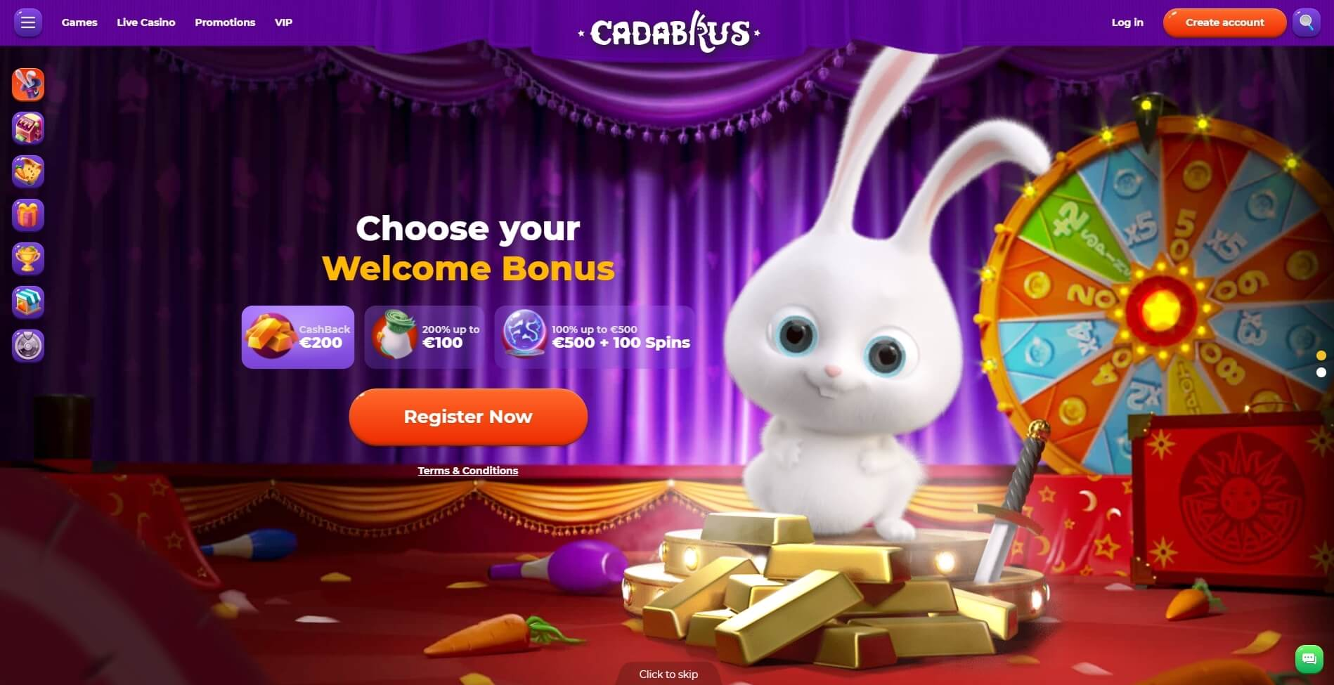 cadabrus casino bonus and review