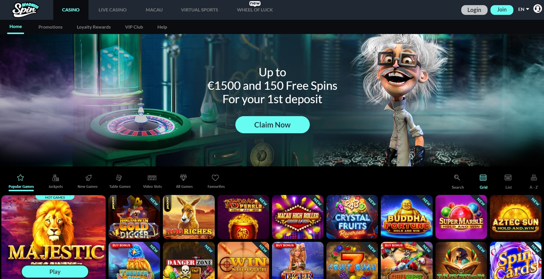 spin madness casino review and bonus
